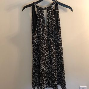 Short fit and flare black dress